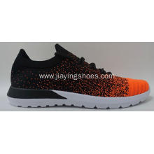 fashion breathable flyknit running shoes men's sport shoes